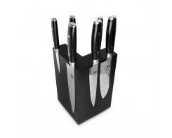 Набор из 6-ти кухонных ножей на подставке из дуба Yaxell RAN YA/RAN-KS003SOBL