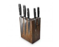 Набор из 8-ми кухонных ножей на подставке из дуба Yaxell RAN YA/RAN-KS009SOB