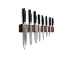 Набор из 8-ми кухонных ножей на магнитном держателе из дуба Yaxell RAN YA/RAN-KS010SOB
